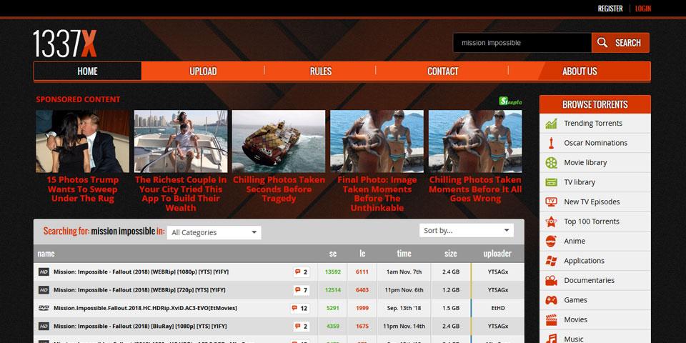 1337x: sito di torrent aggiornato grazie a una attiva comunity